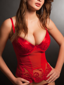 rotes Bustier