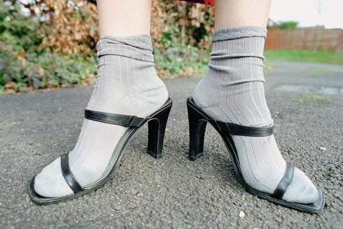 socken in sandaletten