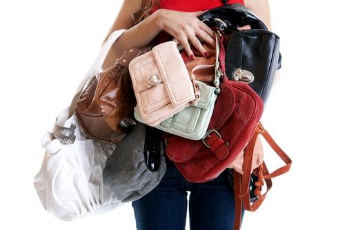 Stress durch die Handtasche