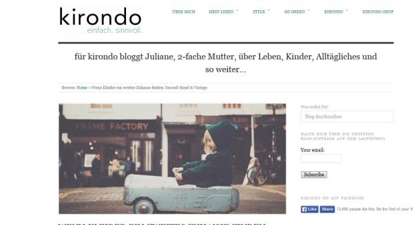 blog kirondo second hand kinder